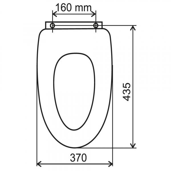 Capac WC universal soft-close din duroplast FERRO Lyra, alb 1