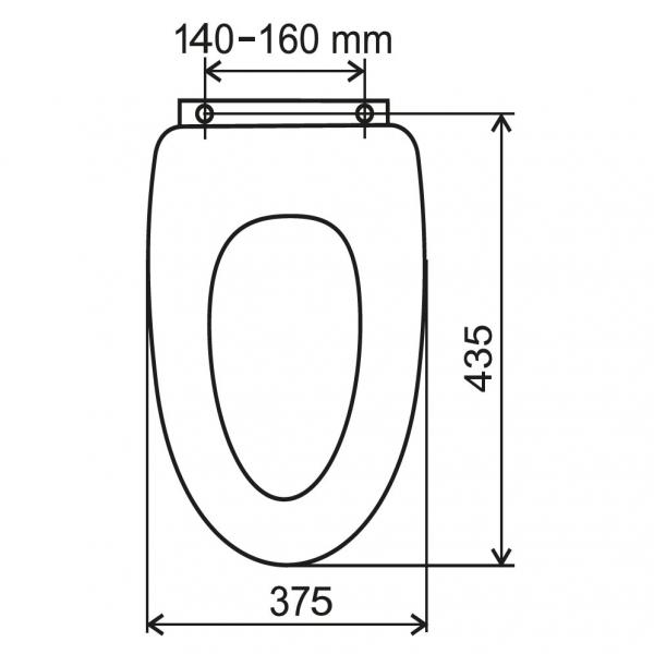 Capac WC universal soft-close din plastic FERRO, alb 1