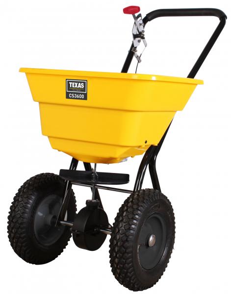 Carucior pentru imprastiat (dispersor) Texas CS3600, 36l, 2metri, pentru seminte/ingrasamant/nisip/sare de drum 4