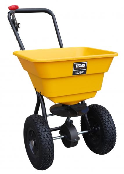 Carucior pentru imprastiat (dispersor) Texas CS3600, 36l, 2metri, pentru seminte/ingrasamant/nisip/sare de drum 3