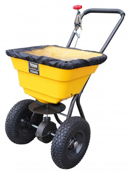 Carucior pentru imprastiat (dispersor) Texas CS3600, 36l, 2metri, pentru seminte/ingrasamant/nisip/sare de drum 0