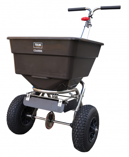 Carucior pentru imprastiat (dispersor) Texas CS6000S, 58l, 3metri, pentru nisip/sare de drum/seminte/ingrasamant 0