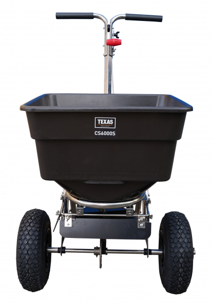 Carucior pentru imprastiat (dispersor) Texas CS6000S, 58l, 3metri, pentru nisip/sare de drum/seminte/ingrasamant 1