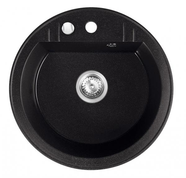 Chiuveta granit 1 cuva rotunda 510 mm FERRO MEZZO II DRGM1/51BA, grafit 0