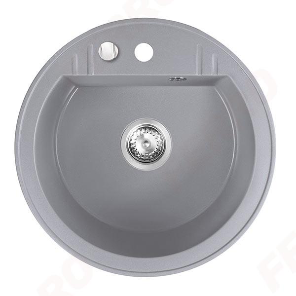 Chiuveta granit 1 cuva rotunda 510 mm FERRO MEZZO II DRGM1/51GA, gri 0