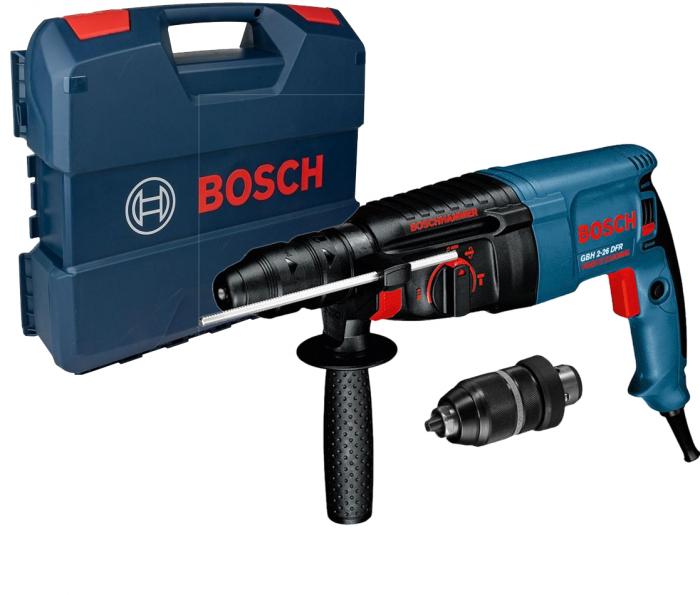 Ciocan rotopercutor Bosch GBH 2-26 DFR, 800W, 2.7J, 900rpm, SDS-Plus, 3 functii 0