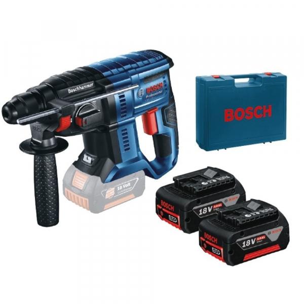 Ciocan rotopercutor cu acumulator Bosch GBH 180-LI, 18V, 4 Ah, 1.7J, 1800rpm, SDS-Plus, 2 acumulatori si incarcator 0