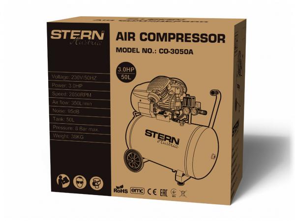 Compresor de aer Stern CO3050A, 50L, 8bar, 350L/min, 220V, angrenare directa [2]
