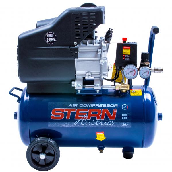 Compresor de aer Stern CO2024A, 24L, 8bar, 195L/min, 220V, 2CP 0