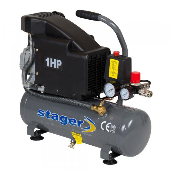 Compresor de aer Stager HM1010K, 6L, 8bar, 126L/min, 220V, angrenare directa 0