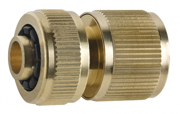 """Conector din alama pentru furtun de gradina FERRO DY8010C, 1/2"""" 0"""