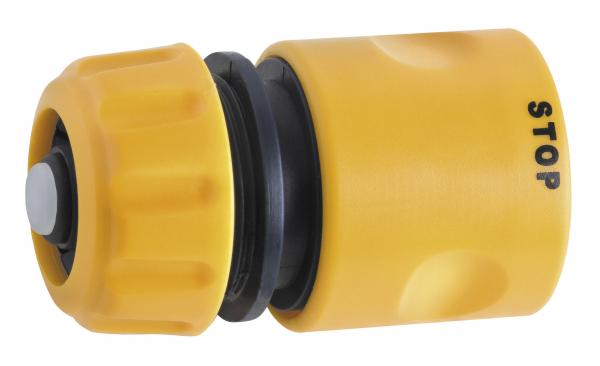 """Conector din plastic cu stop FERRO DY8011, pentru furtun de gradina 1/2"""" 0"""