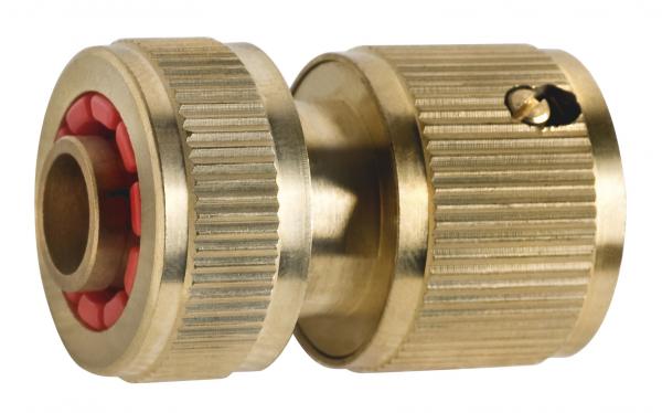 """Conector din plastic cu stop FERRO DY8011C, pentru furtun de gradina 1/2"""" 0"""