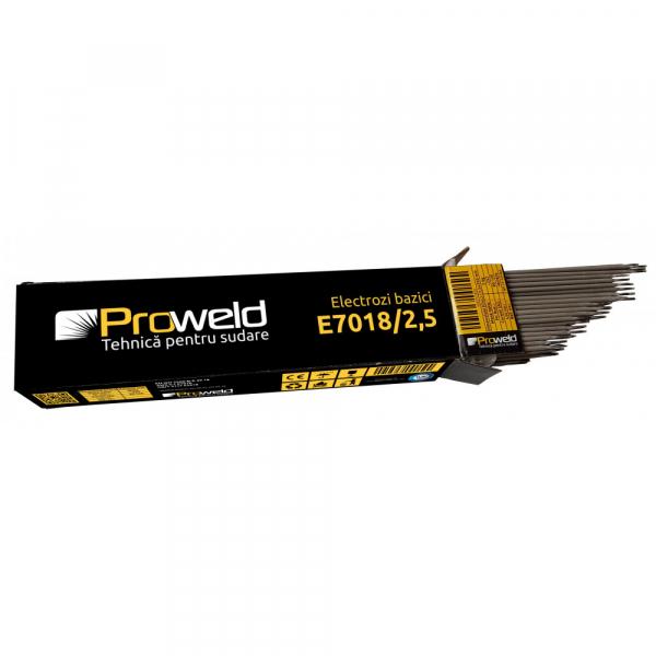 Electrozi bazici pentru sudura ProWELD E7018, 2.5mm/35cm, 90-120A, 5kg 0