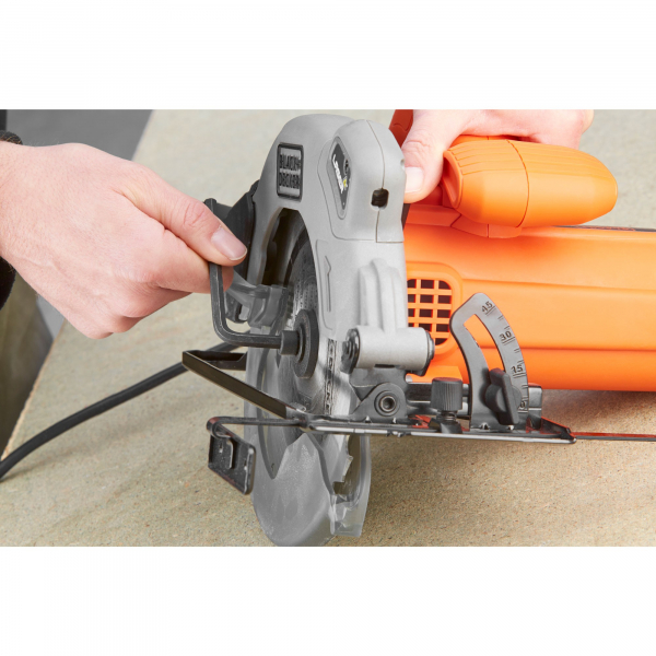 Fierastrau Circular Black & Decker CS1250LA, 1250W, 3400rpm, 170mm, Laser, disc inclus 2
