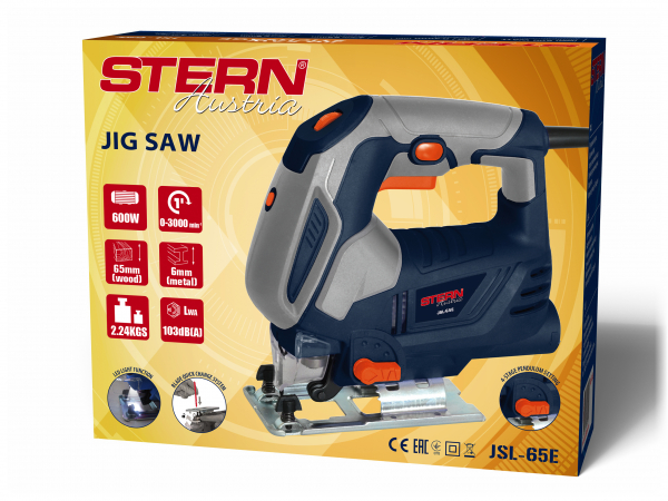 Fierastrau pendular Stern JSL65E, 600W, 3000 curse/min, LED 1