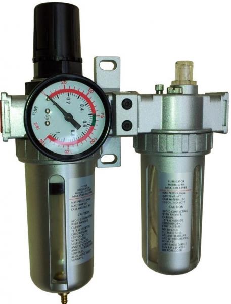 """Filtru de aer dublu pentru Compresor Aer Stager, filet interior 1/4"""" 0"""