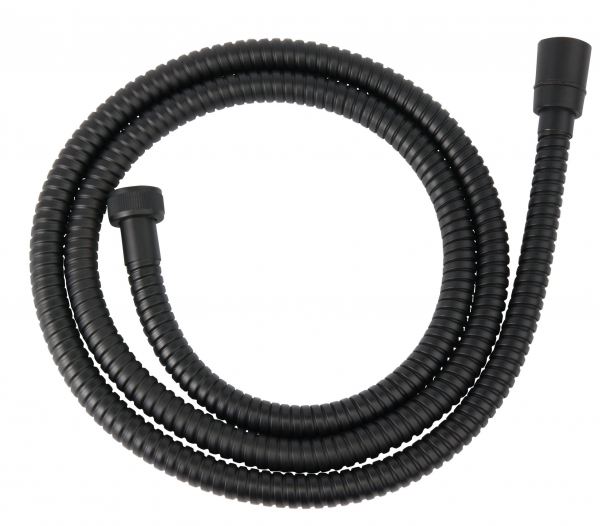 Furtun flexibil dus conic FERRO W33, metalic 150 cm, negru 0