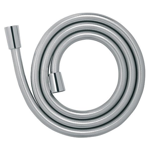 Furtun flexibil dus conic FERRO W40, PVC 150 cm, argintiu 0
