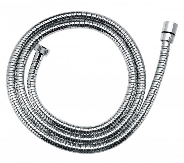 Furtun flexibil dus conic FERRO W47, metalic dublu spiralat 150 cm,  crom 0