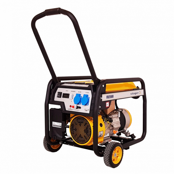 Generator curent electric pe benzina Stager FD 2500, 2.000 W, Autonomie 8h 0