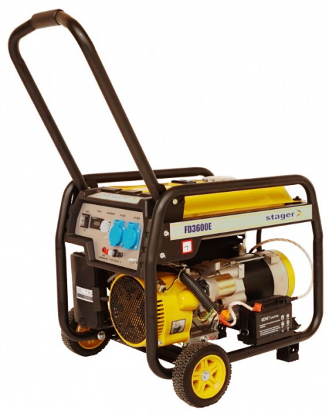 Generator curent electric pe benzina Stager FD 4000E, 3.3Kw, pornire electrica 0