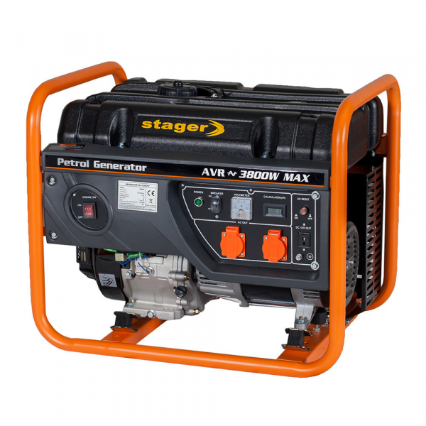 Generator curent electric pe benzina Stager GG 4600, 3.8KW, sfoara 1