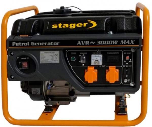 Generator curent electric pe benzina Stager GG 3400, 2.600 W 0