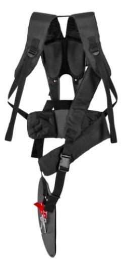 Ham de umar pentru motocoasa (trimmer iarba) ProGARDEN Tip16, suport lombar, textil, ergonomic [0]