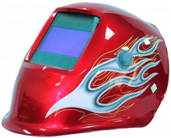 Masca de sudura automata Intensiv Red XL, reglabil, 4 senzori, solar+baterie, 0.04ms, DIN16 0