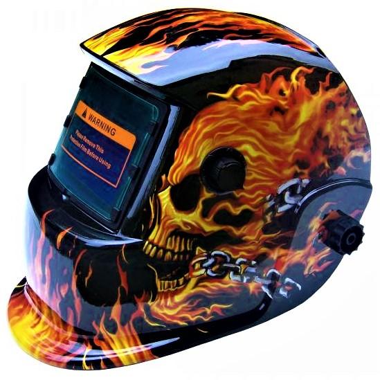 Masca de sudura automata Intensiv 9-13 Flame, reglabil, solar+baterie, 0.04ms, DIN16 [0]