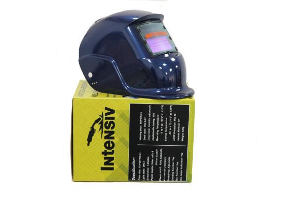 Masca de sudura automata Intensiv 9-13 Blue, reglabil, solar+baterie, 0.04ms, DIN16 3