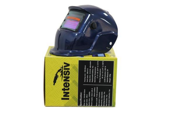 Masca de sudura automata Intensiv 9-13 Blue, reglabil, solar+baterie, 0.04ms, DIN16 2