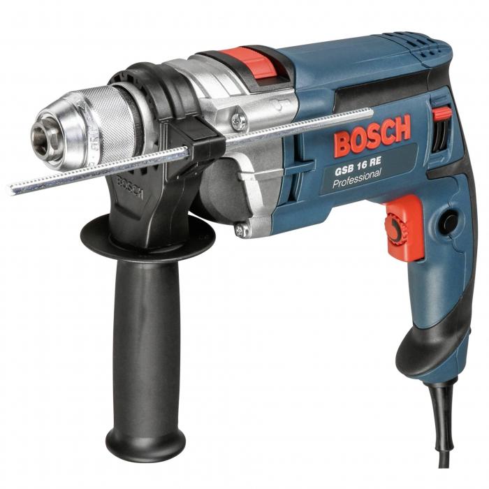 Masina de gaurit cu percutie si insurubat (bormasina) Bosch GSB 16 RE, 750 W, 2800 RPM 0