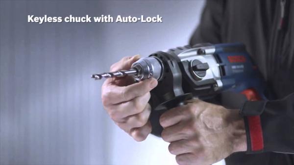 Masina de gaurit cu percutie si insurubat (bormasina) Bosch GSB 19-2 RE, 850 W, 3000 RPM 4