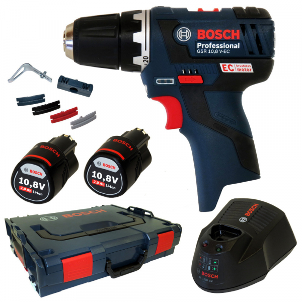 Masina de gaurit si insurubat (bormasina) Bosch GSR 10,8-2-LI, 10.8 V, 2 Ah, 30 Nm, 2 acumulator si incarcator 0