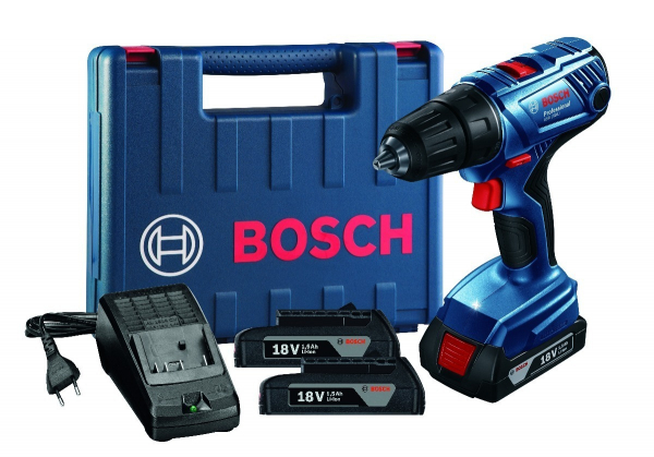 Masina de gaurit si insurubat (bormasina) Bosch GSR 180-LI, 18 V, 1.5 Ah, 54 Nm, 2 acumulatori, incarcator rapid [2]
