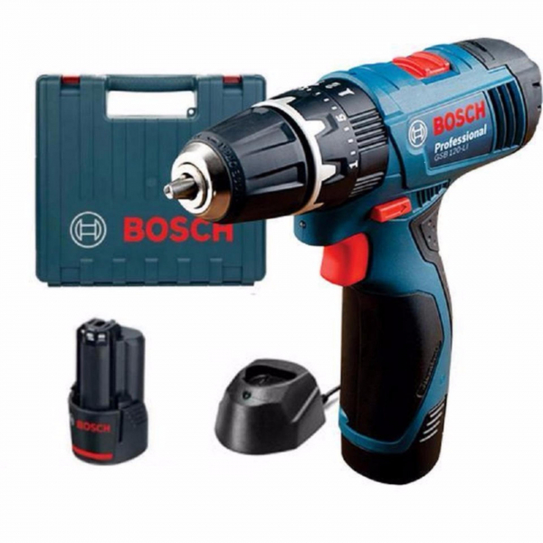 Masina de gaurit si insurubat (bormasina) Bosch GSR 120-LI, 12 V, 2 Ah, 30 Nm, 2 acumulatori, incarcator rapid 0