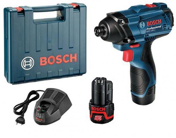 Masina de insurubat cu impact (bormasina) cu acumulator Bosch GDR 120-LI, 2600 RPM, 12V, 1.5 Ah 0