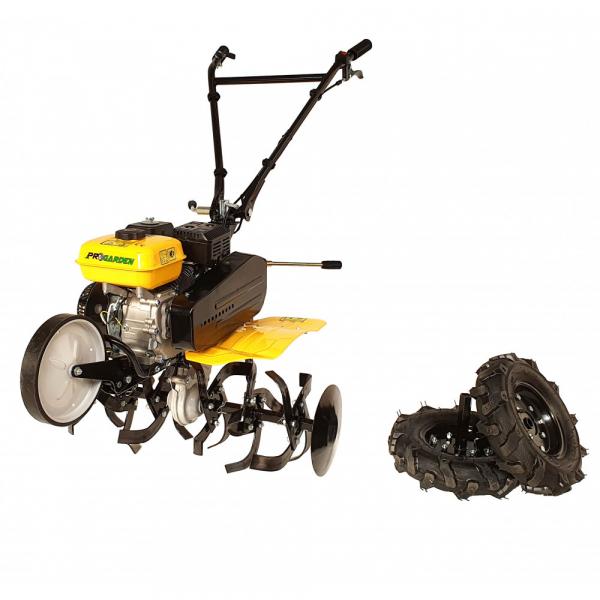 Motosapa benzina (motocultor) ProGARDEN PRO 7, 7CP, 85CM, roti, lame, discuri 1