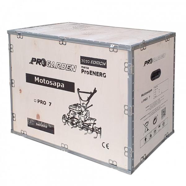 Motosapa benzina (motocultor) ProGARDEN PRO 7, 7CP, 85CM, roti, lame, discuri 4