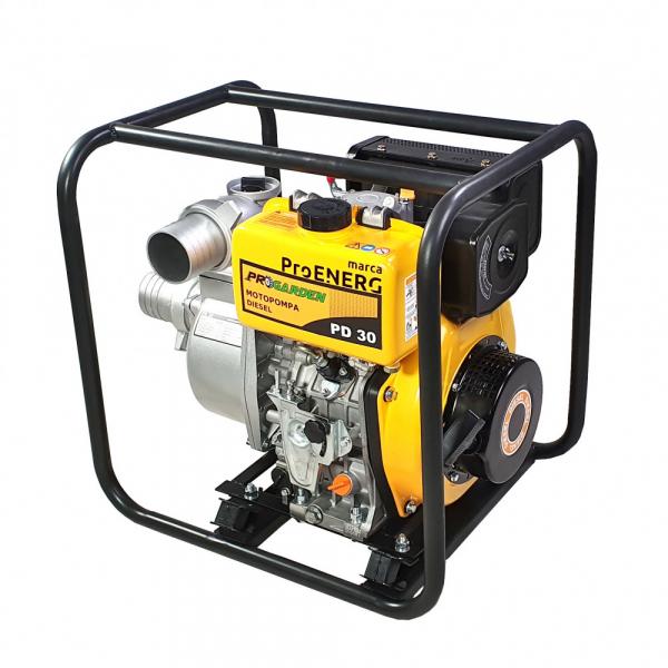 """Motopompa diesel ProGARDEN PD30, 5CP, 35m3/h, 80mm/3"""", apa curata 1"""