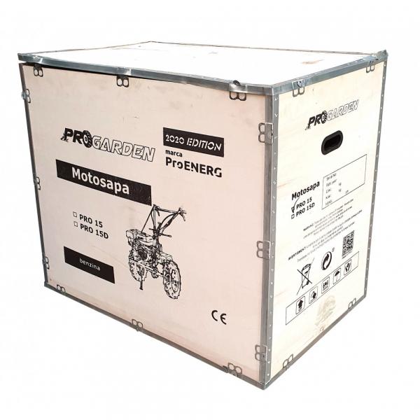 Motosapa benzina (motocultor) ProGARDEN PRO 15, 15CP, 135CM, roti, lame, discuri, far LED 4