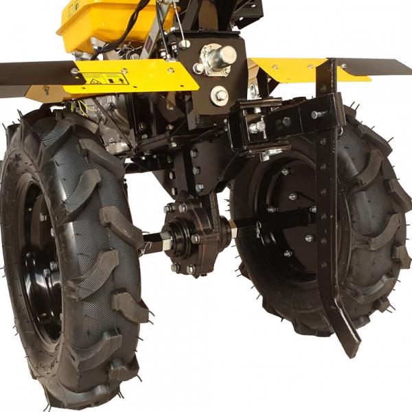 Motosapa benzina (motocultor) ProGARDEN PRO 15, 15CP, 135CM, roti, lame, discuri, far LED 3