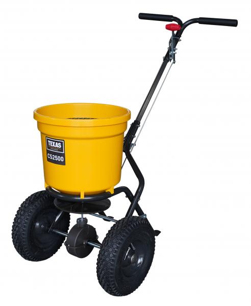 Carucior pentru imprastiat (dispersor) Texas CS2500, 25l, 2metri, pentru seminte/ingrasamant/nisip/sare de drum 0