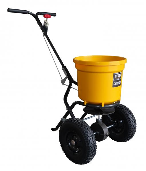 Carucior pentru imprastiat (dispersor) Texas CS2500, 25l, 2metri, pentru seminte/ingrasamant/nisip/sare de drum 1