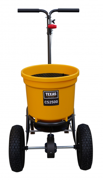 Carucior pentru imprastiat (dispersor) Texas CS2500, 25l, 2metri, pentru seminte/ingrasamant/nisip/sare de drum 2