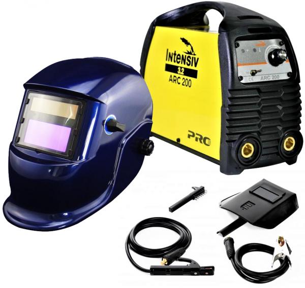 Pachet Aparat de sudura invertor Intensiv ARC 200 VRD, 10-200A, 9.4KvA, MMA/TIG, electrozi 1.6mm-4mm, bazici/rutilici/supertit 0