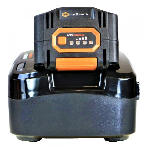 Pachet trimmer iarba cu acumulator (motocoasa) Redback EA314, 120V, 3Ah cu acumulator si incarcator rapid 7