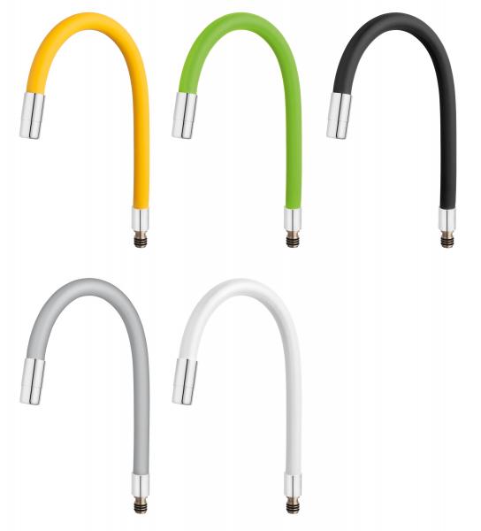 Pipa elastica pentru baterie spalator FERRO Elastico W100W-B, alb 0